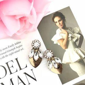 """""""Carmen"""" Crystal Petal Statement Earrings"""
